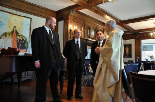 Three Profess First Vows...